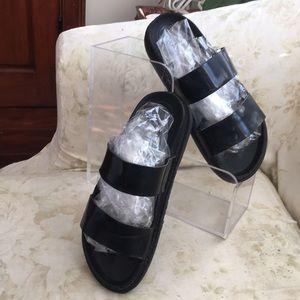 Zara trafaluc Leather strap sandals